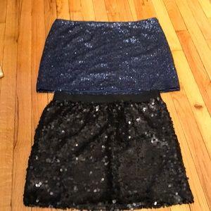 Bundle Lot 2 Mini skirts sequins Sexy Club Night